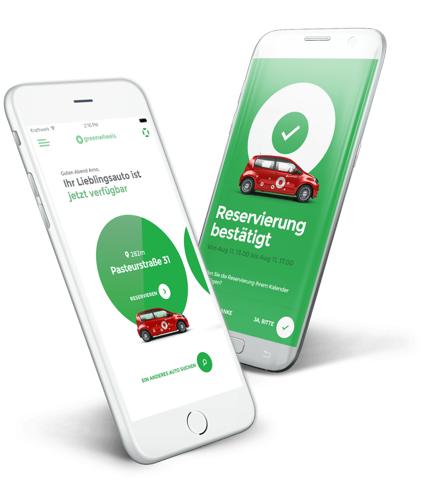 Greenwheels app DE